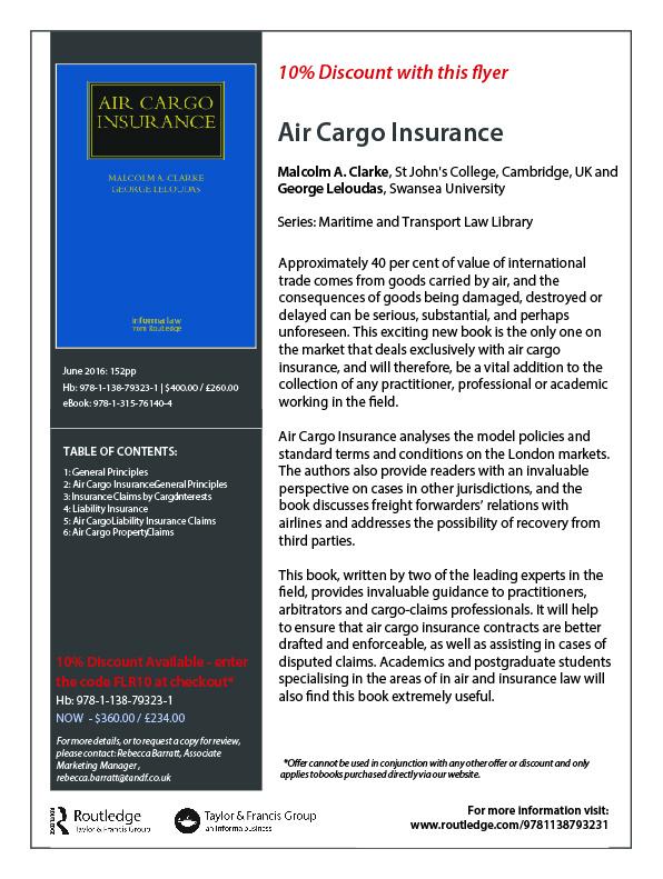 Clarke & Leloudas - Air Cargo Insurance