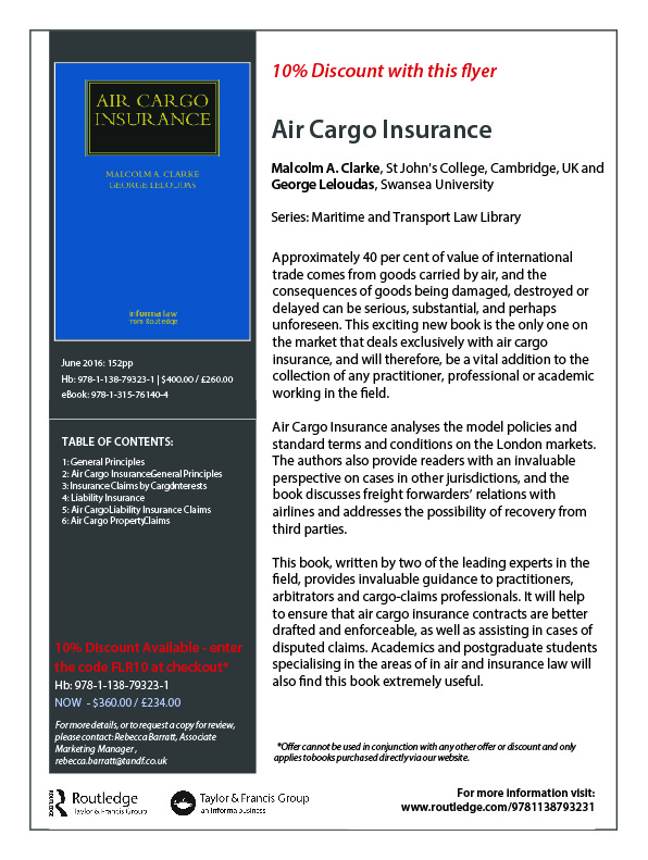 Clarke & Leloudas - Air Cargo Insurance